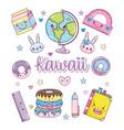 set of kawaii cartoons vector image vector image