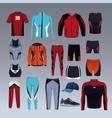set of sport wear collection vector image vector image