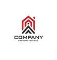 simple line house geometric logo vector image vector image