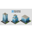 skyscrapers with trees isometric buildings of vector image vector image