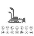 smart factory and icons set smart factory or vector image