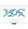 Social media Growth abstract background with vector image vector image