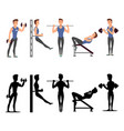 sport man characters male fitness vector image