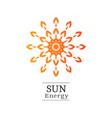 sun logo vector image vector image