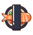 sushi icon cartoon style vector image vector image