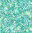 Tropical palm leaves in a seamless pattern on a vector image vector image