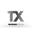 tx t x lines letter design with creative elegant vector image vector image