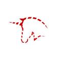 unicorn head logo symbol vector image