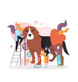 veterinarian concept for web banner vector image