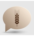 Wheat sign Brown gradient icon on vector image