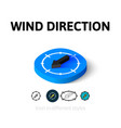 Wind direction icon in different style vector image