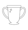 winner trophy cup icon line style award vector image