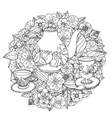 with elements time for tea vector image vector image