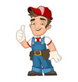 worker in overalls vector image