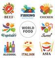 world food vector image vector image
