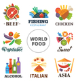 World of food vector image vector image