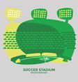 Soccer stadium graphic vector image