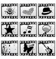 film with symbols vector image