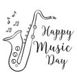 happy music day celebration collection vector image