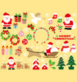 a set of assorted christmas graphic elements vector image vector image