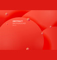 abstract 3d liquid fluid circles red mustard vector image vector image