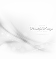 abstract white wave style background vector image vector image