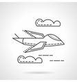 Aerial vehicle thin line icon vector image vector image
