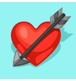 Background with heart and arrow Concept can be vector image