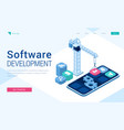 banner software development vector image