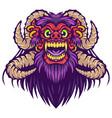 barong head mascot logo design vector image vector image