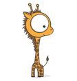 big eyed giraffe vector image vector image
