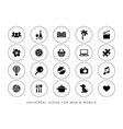 black leisure web and mobile icons vector image vector image