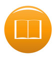 book novel icon orange vector image vector image