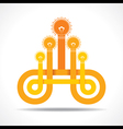 Business icon with hand light-bulb vector image