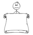 cartoon man or businessman holding empty vector image