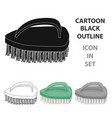 cleaning brush icon in cartoon style isolated on vector image vector image