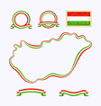 colors hungary vector image