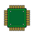 computer microchip circuit hardware element icon vector image vector image