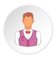 Croupier icon flat style vector image vector image