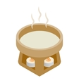 Cup water heated candles 3d isometric icon vector image vector image
