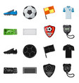 design of soccer and gear logo set of vector image vector image