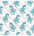 dino monster boy seamless pattern vector image