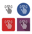 dotted icon fingerprint scanning in four vector image vector image