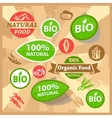 eco and bio labels vector image vector image