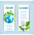 Ecology vertical banners vector image vector image