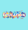 education school quote in french language vector image