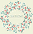 Elegant circle frame with colorful roses vector image vector image