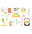 elements happy easter set vector image