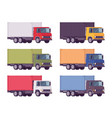 euro truck metal container set in bright colors vector image vector image