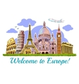 Europe Buildings Travel Poster vector image vector image
